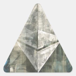 Pegatina Triangular Ethereum