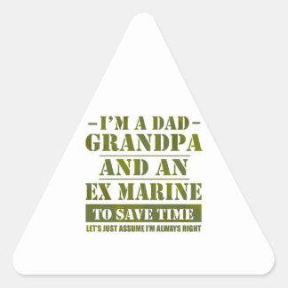 Pegatina Triangular Ex infante de marina