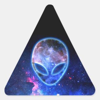 Pegatina Triangular Extranjero en espacio