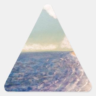 Pegatina Triangular faros distantes