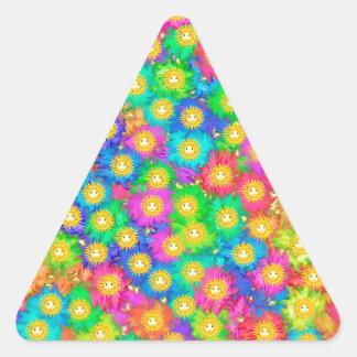 Pegatina Triangular Felicidad