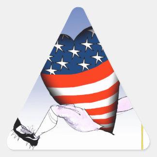 Pegatina Triangular fernandes tony ruidosos y orgullosos de Michigan,