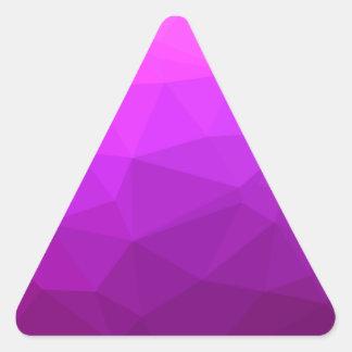 Pegatina Triangular Fondo bajo abstracto púrpura bizantino del