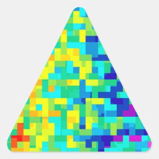 Pegatina Triangular Fondo inconsútil del modelo del pixel como