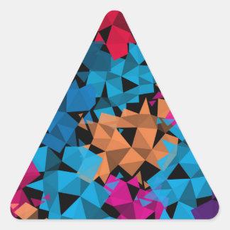 Pegatina Triangular Formas geométricas coloridas 3D