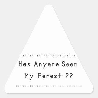 Pegatina Triangular Forrest