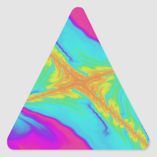 Pegatina Triangular fractal insomne del saludo