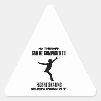 Pegatina Triangular fresco y tendiendo DISEÑOS del patinaje artístico
