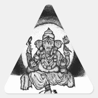 Pegatina Triangular ganesh