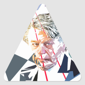Pegatina Triangular Gilbert Collard