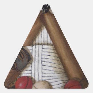 Pegatina Triangular Grillo del vintage