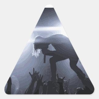 Pegatina Triangular ¡Grítelo hacia fuera!