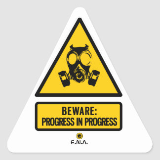 Pegatina Triangular Guárdese: progreso en curso