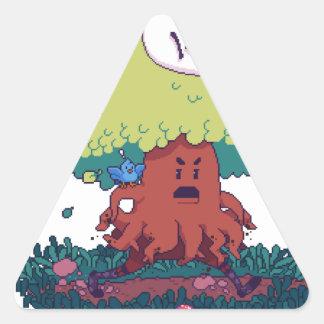 Pegatina Triangular Haga como un árbol