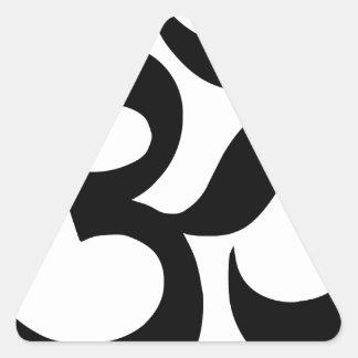 Pegatina Triangular hindu3