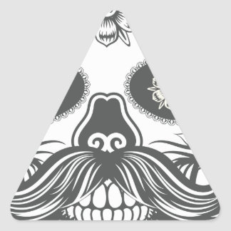 Pegatina Triangular Hipster sugar skull 3