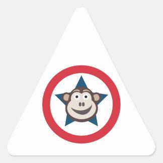 Pegatina Triangular Hoja estupenda del mono de los pegatinas