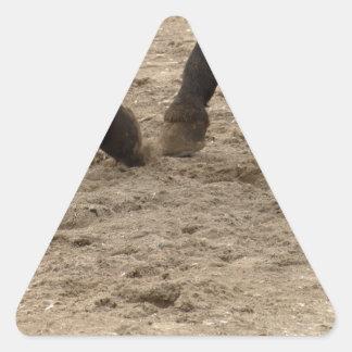 Pegatina Triangular Horse hooves