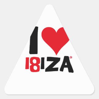 Pegatina Triangular I love Ibiza 18IZA Edición Especial 2018