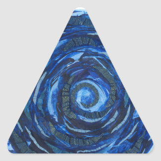 Pegatina Triangular ilustraciones #2 del añil de Chakra del ojo