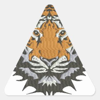 Pegatina Triangular imitación del tigre del bordado