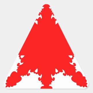 Pegatina Triangular Impresión circular roja