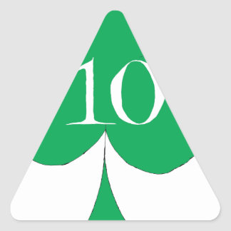 Pegatina Triangular Irlandés afortunado 10 de los clubs, fernandes