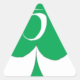 Pegatina Triangular Irlandés afortunado 5 de los clubs, fernandes tony