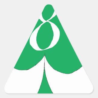 Pegatina Triangular Irlandés afortunado 8 de los clubs, fernandes tony