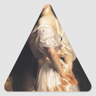 Pegatina Triangular John Singer Sargent - Nancy Astor - bella arte