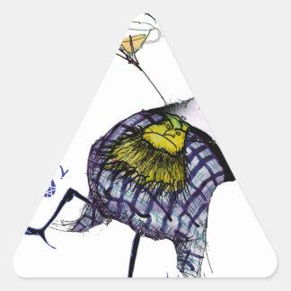 Pegatina Triangular la danza de los haggis