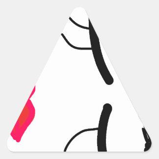 Pegatina Triangular la otra colección de la bella durmiente