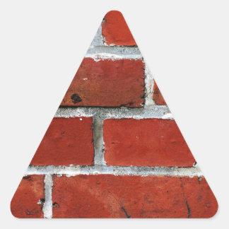 Pegatina Triangular Ladrillos