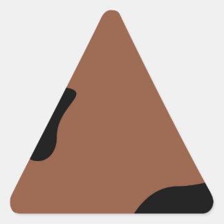 Pegatina Triangular Leche de los elementos del diseño