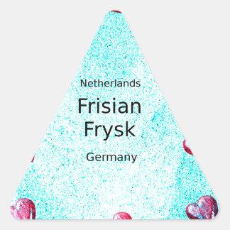 Pegatina Triangular Lengua del Frisian (Alemania y Países Bajos)
