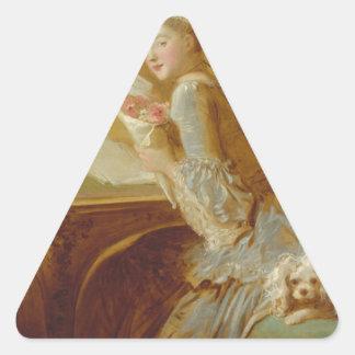 Pegatina Triangular Letra de amor