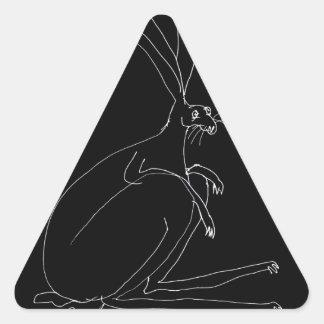 Pegatina Triangular liebres mágicas
