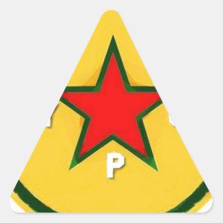 Pegatina Triangular logotipo 4 del ypg