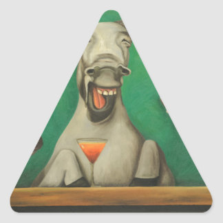 Pegatina Triangular Los burros de risa