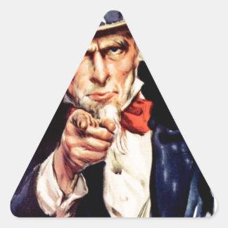 Pegatina Triangular los E.E.U.U.