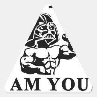 Pegatina Triangular Lucas soy su TAPÓN