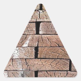 Pegatina Triangular madera, retra, árboles