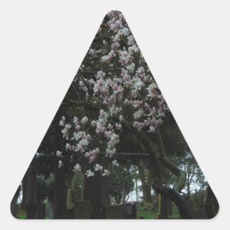 Pegatina Triangular Magnolias para siempre