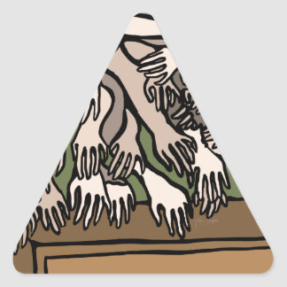 Pegatina Triangular Manos del maniquí