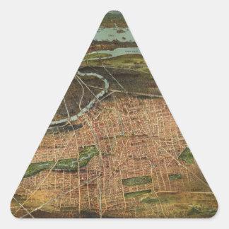 Pegatina Triangular Mapa de Newark 1916