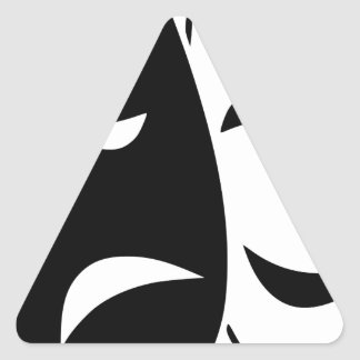 Pegatina Triangular Máscara de la comedia y de la tragedia