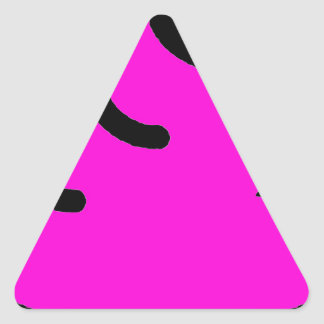 Pegatina Triangular Merda Fluorescente