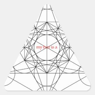 Pegatina Triangular mi caja es… El cubo de Metatron