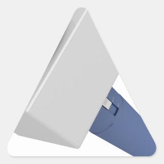 Pegatina Triangular Micrófono del reportero