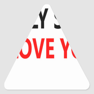 Pegatina Triangular Mierda santa te amo (1)
